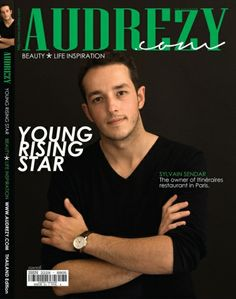 Sylvain Sendar, a young chef rising star on cover.