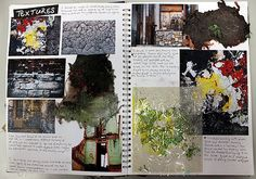 Art Sketchbook Ideas: Creative Examples to Inspire High School Students - A Level Art Sketchbook - A Level Art Sketchbook, Sketchbook Layout, Textiles Sketchbook, Sketchbook Inspiration, Sketchbook Ideas, Student Art Guide, Book Presentation, High School Art Projects, School Painting