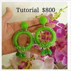 Soutache Necklace, Tassel Earrings, Crochet Earrings, Beaded Jewelry Designs, Boho Jewelry, Thread Jewellery, Beaded Embroidery, Crystal Beads, Diy And Crafts