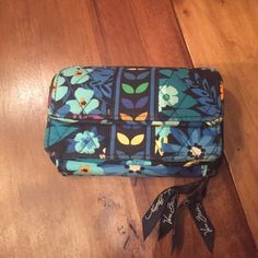 Vera Bradley blue wallet Larger than most Vera Bradley wallets! One of my favorites! Vera Bradley Bags Wallets
