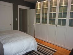 Pax wardrobe love, with BM Asphalt walls and cloud white trim - Science of Married