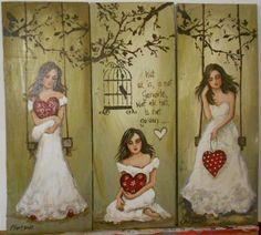 Angel Crafts, Angel Pictures, Unicorn Art, Human Art, Pallet Art, Angel Art, Heart Art, Pictures To Paint, Art Tutorials