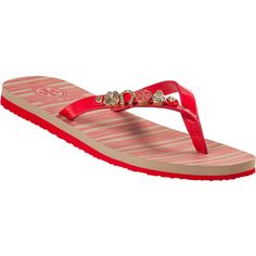 fa842009cd589 TORY BURCH Kiley Flip Flop Ruby Red Leather ( 67) ❤ liked on Polyvore  featuring