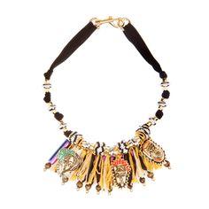 82082ce57bde Bimba y Lola Raffia necklace. Collares Étnicos
