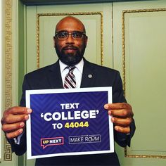 """#CCAC President Dr. Bullock is spreading the word! Text """"COLLEGE"""" to 44044 for tips on how to get to and through college! #text44044 #BetterMakeRoom #UpNext #HeadsUpAmerica #FLOTUS #WhiteHouse @headsupamerica @bettermakeroom"""
