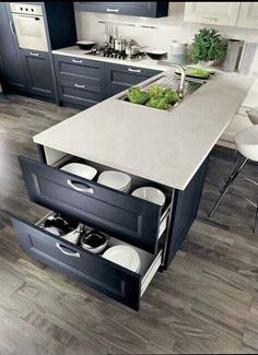 40 Ingenious Kitchen Cabinetry Ideas and Designs 45 Suprising Small Kitchen Design Ideas And Decor . Split - Kitchen Detail White and timber, bl. Contemporary Kitchen Cabinets, Kitchen Cabinetry, Kitchen Flooring, Kitchen Countertops, Contemporary Kitchens, Modern Countertops, Blue Countertops, Kitchen Cabinet Layout, Granite Kitchen