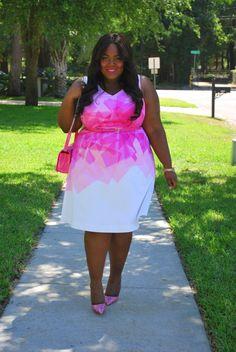 Musings of a Curvy Lady, Plus Size Fashion, Fashion Blogger, Lela Rose for Lane Bryant, Lane Bryant, Nurses' Week 2015, Pink