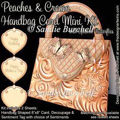 Peaches & Cream Handbag Card Mini Kit : The Designer Twins ...where creativity encounters quality and value