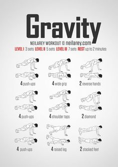 No-equipment gravity (push-up) bodyweight workout for all fitness levels. 9e27e88a36b