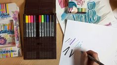 BRUSH PEN / HAUL / Handlettering / Einführung - YouTube Self, Notebook, Youtube, Writing, Projects, The Notebook, Youtubers, Youtube Movies, Exercise Book