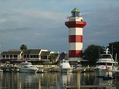 Hilton Head Island...love riding bikes everywhere, seeing Greg Russell, and visiting Harbor Town Vacation Ideas, Vacation Places, Vacation Spots, Places To Travel, Places To Visit, Vacation Destinations, Vacations, Lighthouses, Hilton Head South Carolina