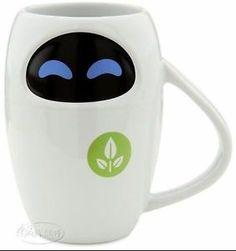 Disney Store Wall-E Friend Eve Robot Ceramic Mug on ebay