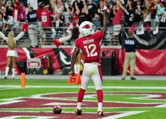 John Brown was one of the highest risers in #nfl #fantasyfootball drafts this week!