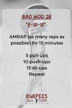 WOD – Can you count by Then you can do this workout. Find more Spartan workouts at Bar Workout At Home, Pull Up Workout, Workout Routine For Men, Workout Guide, Murph Workout, Emom Workout, Calisthenics Workout, Beginner Calisthenics, Crossfit Routines