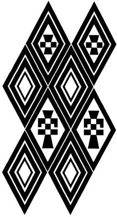 mapuche - cristina spagnolo - Álbumes web de Picasa Paper Bead Jewelry, Paper Beads, Stencil Font, Stencils, Alpona Design, Southwestern Art, Black And White Fabric, Aztec Designs, Tribal Patterns
