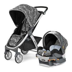 The Chicco Bravo Trio System features a Bravo Stroller, KeyFit 30 Infant Car Seat, which is the #1 rated infant car seat in America, and adapters. www.rightstart.com