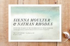 Sandstone Wedding Invitations by Olivia Kanaley at minted.com