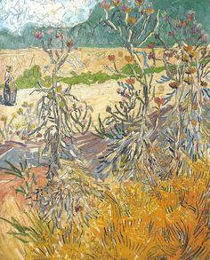 """alongtimealone: """" Van Gogh, Thistles, August 1888. Oil on canvas, 59 x 49 cm…"""