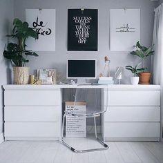Wie sich ein Schreibtisch aus IKEA Möbeln an jede Raumgröße anpassen lässt... ☺️ #IKEAhacks