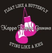 float like a butterfly, sting like a Kappa Kappa Gamma! ;)