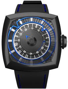 Lytt Labs Watch Blue Gunmetal