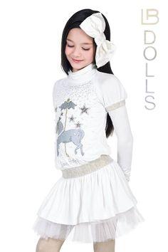 ALALOSHA: VOGUE ENFANTS: Laura Biagiotti DOLLS FW2013 WHITE