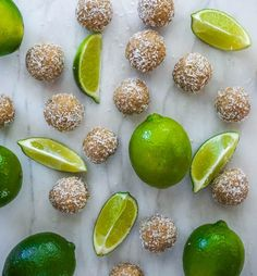 These little protein packed flavour explosions are so zesty and summery  they will transport to you a far away tropical location on your first bite.  They taste just like a key lime pie,rolled up into a perfect bite-sized,  coconut-crusted ball of happiness!