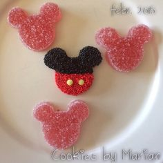 Gominolas caseras de fresa: Mickey Mouse