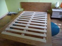 DIY simple bedframe with hairpin legs I would probably buy longer