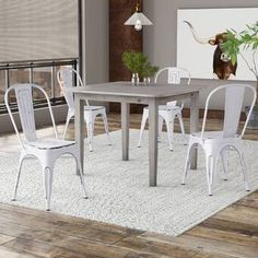 Lilian Metal Slat Back Stacking Side Chair Vintage Dining Chairs, Industrial Dining Chairs, Solid Wood Dining Chairs, Upholstered Dining Chairs, Dining Chair Set, Formal Dining Tables, Cafe Chairs, Kitchen Chairs, Desk Chairs