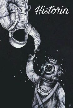 """""""Astronaut and Diver"""" Art Prints by Tumblr Wallpaper, Galaxy Wallpaper, Phone Backgrounds, Wallpaper Backgrounds, Tumblr Backgrounds, Iphone Whatsapp, Astronaut Drawing, Graffiti Kunst, Hipster Vintage"""