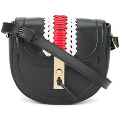 Altuzarra Mini Ghianda Saddle Bag (2,270 CAD) ❤ liked on Polyvore featuring bags, handbags, shoulder bags, crossbody, kirna zabete, cross-body handbag, leather saddle bag purse, leather crossbody purses, mini shoulder bag and leather purses