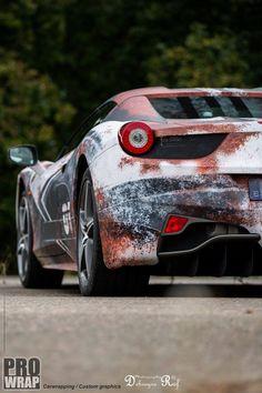 Rust Wrap Ferrari 458 Spider 5 Image