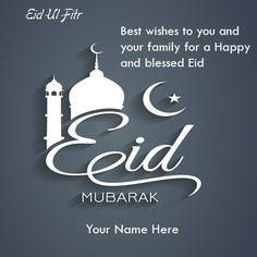 Eid Ul Fitr Mubarak Wishes Greetings Cards