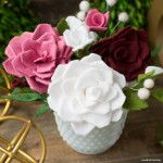 Make your own DIY felt flower centerpiece with these patterns and tutorials from handcrafted lifestyle expert Lia Griffith.