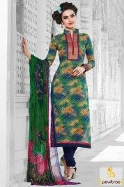 Multi Color Cotton Salwar Kameez for Summer Wear #salwarsuit, #casualsalwarsuit more: http://www.pavitraa.in/wholesale-catalog/cotton-chiffon-fabric-dress/