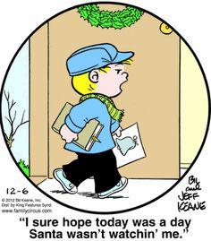 Family Circus Cartoon for Dec/06/2012