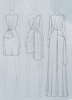 Fashion Drawing Tutorial, Fashion Model Drawing, Fashion Figure Drawing, Fashion Drawing Dresses, Fashion Illustration Dresses, Dress Design Drawing, Dress Design Sketches, Fashion Design Sketchbook, Fashion Design Drawings