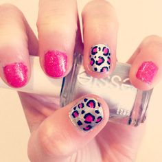 Pink with silver cheetah