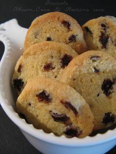 Biscuits Rhum, Coco & Raisins secs (Martha Stewart)