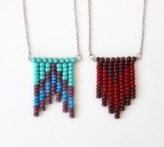 owlswakeup: DIY Beaded Fringe Necklace