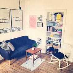 Min stue. :) Børge morgensen gyngestol Corner Desk, Furniture, Home Decor, Corner Table, Decoration Home, Room Decor, Home Furnishings, Home Interior Design, Home Decoration