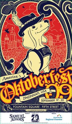 Oktoberfest Zinzinnati! Sept. 21-23, going this year! Beer and lots of german food, so excited!