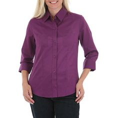 Riders by Lee Women's Carly 3/4 Sleeve Shirt