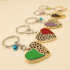 Semi-Heart with Ring Bell Key Chain for Couple - Gift Ideas Guess You Like It