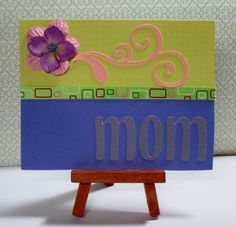"""Pink and Purple Mom Card This card measures approximately 4.25"""" x 5.5"""" in size http://kinamileli.wix.com/pink-mermaid-"""
