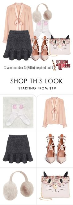 """""""Chanel number 3 (Billie) inspired outfit/SC"""" by tvdsarahmichele ❤ liked on Polyvore featuring Alice + Olivia, Valentino, Karl Donoghue and Betsey Johnson"""
