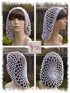 Medieval White Snood with Swarovski Crystals   Renaissance   Victorian by Cr8tiveLefty on Etsy. $36.00 + shipping. Handmade in the USA.
