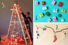 buena idea una escalera decorada como arbol de navidad