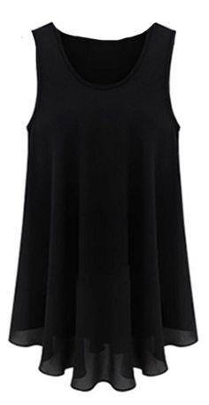 Generic Womens Sexy O-neck Sleeveless Slim Primer Chiffon Vest Dress ** This is an Amazon Affiliate link. Read more reviews of the product by visiting the link on the image.